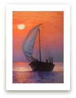Sunset Sail by Cindy Gillett