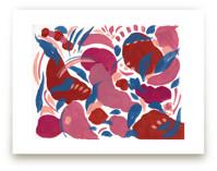 Caramel Rouge abstract by FERNANDA MARTINEZ