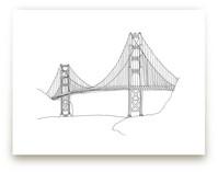 The Golden Gate in Pen by Sharon Rowan