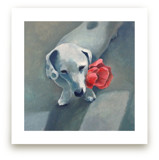 Waiting with Flower Wall Art Prints