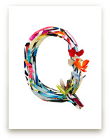 Collage letter Q by Kiana Mosley
