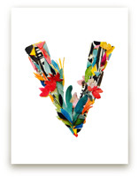 Collage letter V by Kiana Mosley