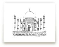The Taj Mahal in Pen by Sharon Rowan