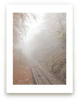 Mountain train track in... by van tsao
