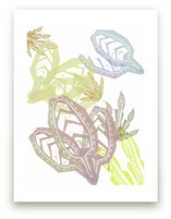 Lavender + Yellow Leave... by Debra Bianculli