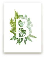 Floral Monogram B by Helga Wigandt