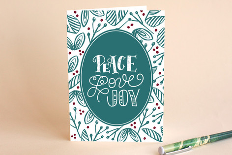 Holly Florals Holiday Cards
