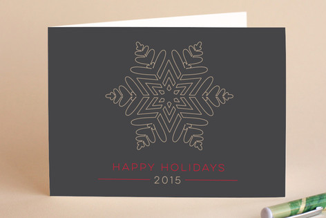 Outline Snowflake Holiday Cards