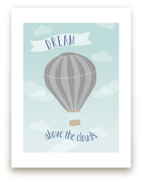 Hot Air Balloon in the Clouds