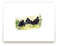 Lounging Gorillas by Haley Mistler