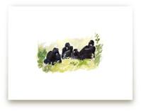 Lounging Gorillas by Haley Mistler