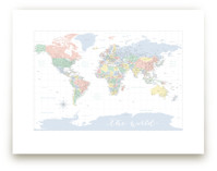 Pastels nursery world map