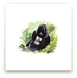 Mountain Gorilla Waterc... by Haley Mistler