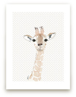 Baby Giraffe Art Print
