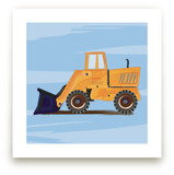 Digger truck art