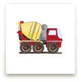 Cement truck boy art