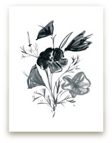 Japanese Flower in Ink by Kim Johnson