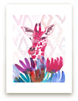 Giraffe among the Wildf... by Kim Johnson
