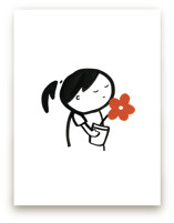 Girl with Flowers by Mayel