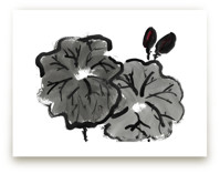 Lotus in Gray, Black, P... by Jessica Niles DeHoff