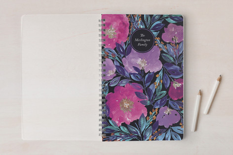 hand painted flowers1 Notebooks