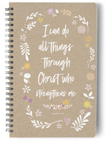 Christ Who Strengthens Me Notebook
