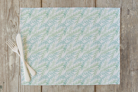 Watercolor Branches Self Launch Placemats