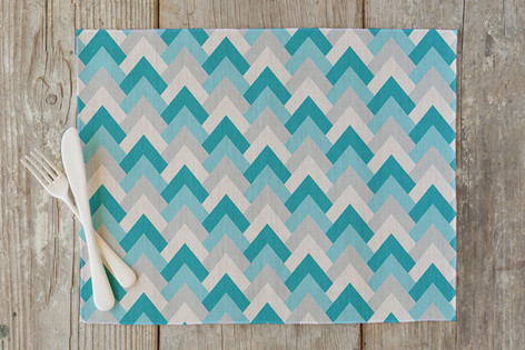Deco Chevron Self Launch Placemats