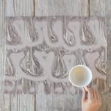 Calligraphy Khaki by Angela Simeone