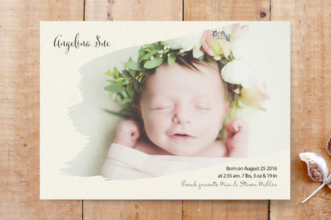 Brush stroke photo Custom Stationery