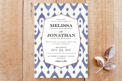Elegant Ikat Custom Stationery
