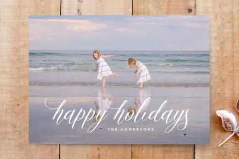 holidays lettering Custom Stationery