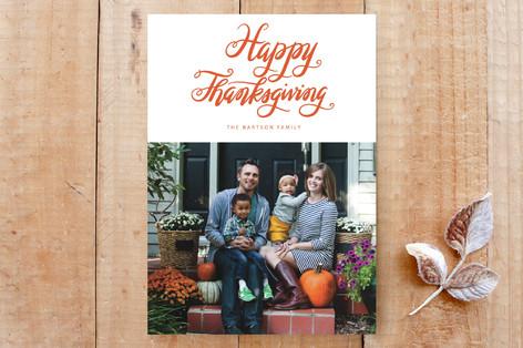 script thanksgiving Custom Stationery