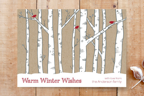 Warm Winter Woods Custom Stationery