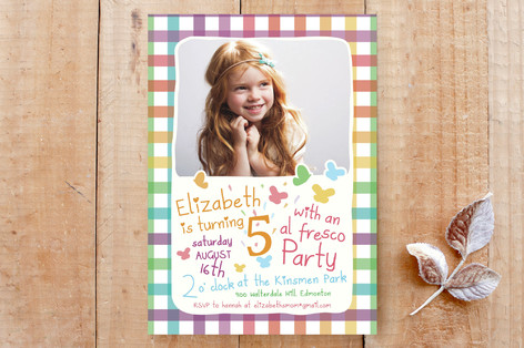 Picnic Party Custom Stationery