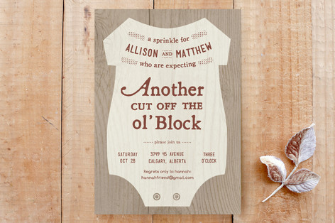 cut off the ol'block Custom Stationery