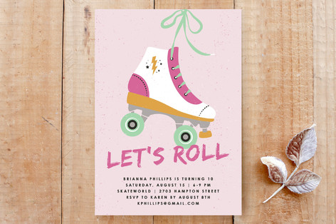 Let's Roll Invitation Custom Stationery