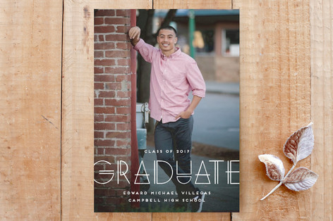 Geo Grad Graduation Announcement Custom Stationery