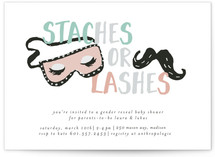 Staches and Lashes by Novel Paper
