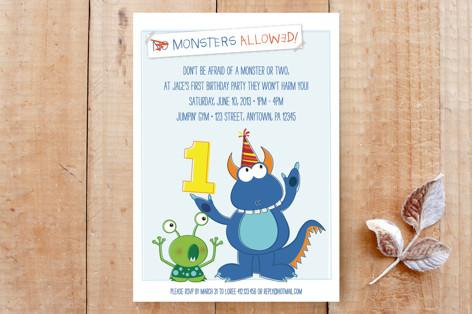 Monsters Allowed Invitation Custom Stationery