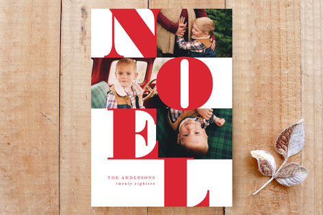 Modern Noel Custom Stationery