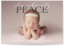 Sleep in Heavenly Peace Birth Announcement Custom Stationery
