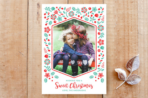 Sweet Candy Christmas Custom Stationery