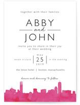 Skyline Boston Wedding Invitation