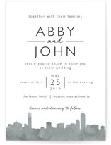 Skyline Boston Wedding Invitation