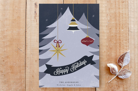 Vintage Holiday Greeting Custom Stationery