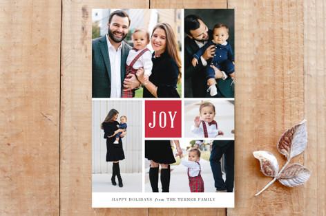 Joyful Montage Holiday Card Custom Stationery