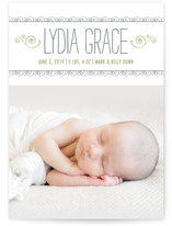 Curlicues Birth Announc... by Luckybug Designs