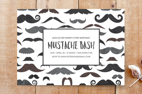 Stache Bash Custom Stationery