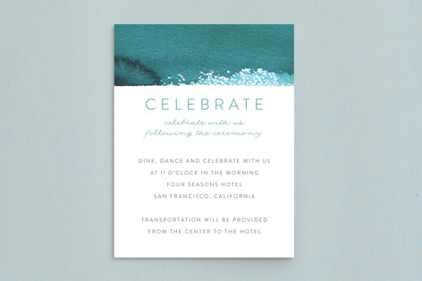 Minimal Abstract Mitzvah Reception Cards
